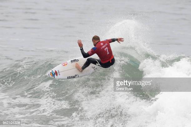 Mick Fanning competes in the final of the Rip Curl Pro Bells Beach at Bells Beach on April 5 2018 in Melbourne Australia Bells Beach is the farewell...