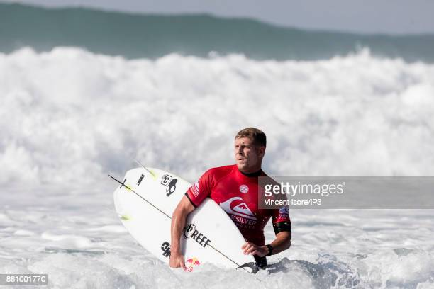 Mick Fanning from Australia performs during the Quicksilver Pro France surf competition on October 13 2017 in Hossegor France The French stage of the...