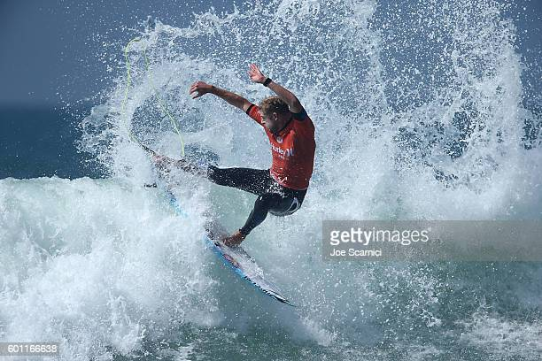 Mick Fanning of Australia in action surfing during his second round heat of the 2016 Hurley Pro at Trestles at San Onofre State Beach on September 9...