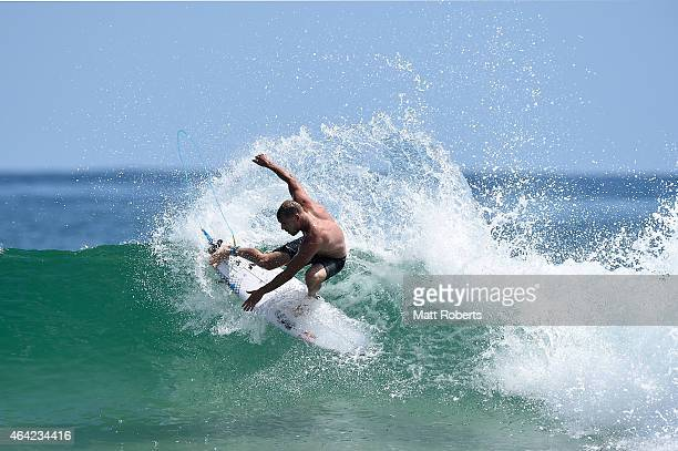 Mick Fanning of Australia surfs at Snapper Rocks on January 30 2015 on the Gold Coast Australia