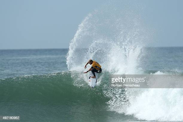 Mick Fanning of Australia surfs into round 3 of Quiksilver Pro on October 10 2015 in Hossegor France