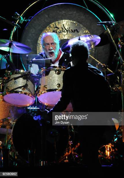 Mick Fleetwood and Lindsey Buckingham of Fleetwood Mac perform during their 'Unleashed' tour at Wembley Arena on October 30 2009 in London England