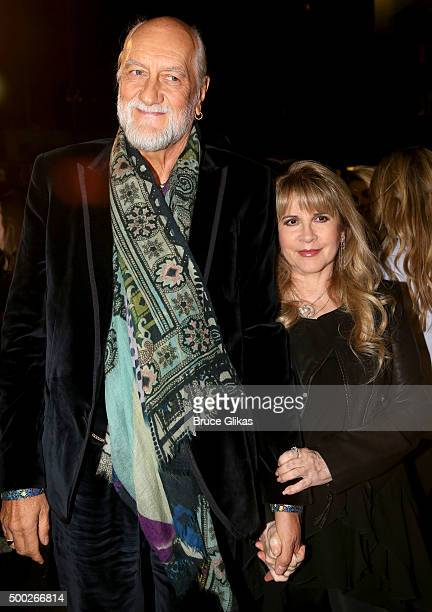 Mick Fleetwood and Stevie Nicks pose at the Opening Night of 'School of Rock' on Broadway at The Winter Garden Theatre on December 6 2015 in New York...