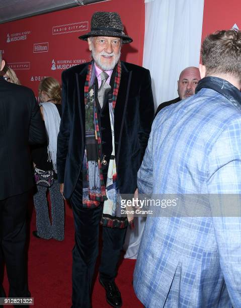 Mick Fleetwood arrives at the 60th Annual GRAMMY Awards MusiCares Person Of The Year Honoring Fleetwood Mac on January 26 2018 in New York City