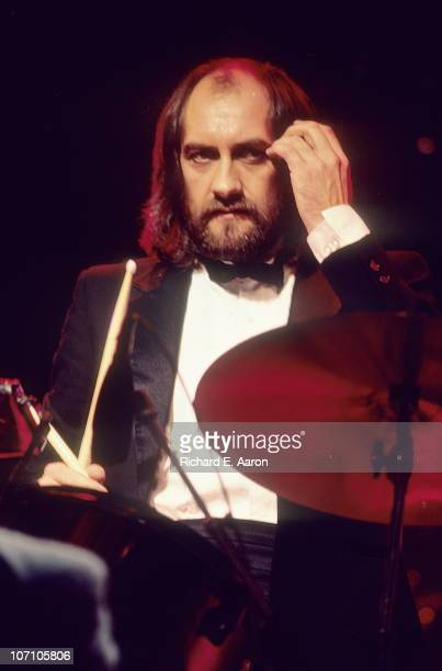 Mick Fleetwood from Fleetwood Mac performs live on stage in Los Angeles in 1982