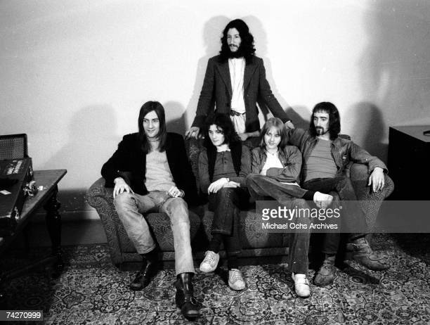 Mick Fleetwood Jeremy Spencer Danny Kirwan John McVie and Peter Green of the rock group 'Fleetwood Mac' pose for a portrait on March 21 1970 in Los...
