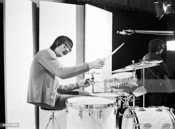 Mick Fleetwood of Fleetwood Mac performing at TV Special Copenhagen Denmark May 1968