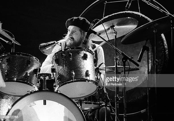 Mick Fleetwood performs with Fleetwood Mac at the Berkeley Community Theater in February 1977 in Berkeley California