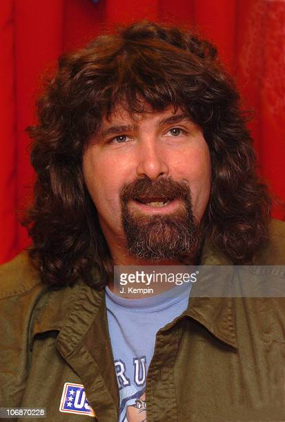 Mick Foley during WWE RAW Superstar Mick Foley and Diva Ashley Celebrate Wrestlemania 22 March 23 2006 at Toys R Us Times Square in New York City New...