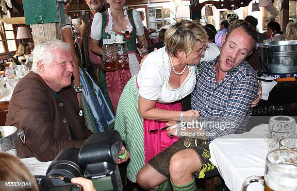 Mick Friedrich Christian Flick Gloria von Thurn und Taxis Moritz Flick during the Oktoberfest Opening in Kaeferzelt at Theresienwiese on September 20...