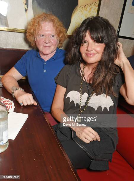 Mick Hucknall and Gabriella Wesberry attend Sticky Fingers' 28th Birthday hosted by Bill Wyman on July 6 2017 in London England