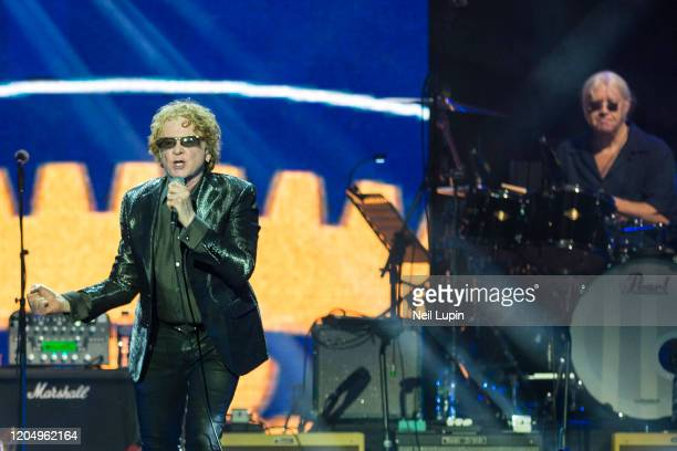 Mick Hucknall and Iain Paice perform at the Music For Marsden 2020 at The O2 Arena on March 3, 2020 in London, England.