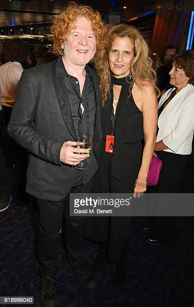 Mick Hucknall and Suzanne Wyman attend Bill Wyman's 80th Birthday Gala as part of BluesFest London at Indigo at The O2 Arena on October 28 2016 in...