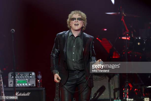 Mick Hucknall attends the Music For Marsden 2020 at The O2 Arena on March 03, 2020 in London, England.