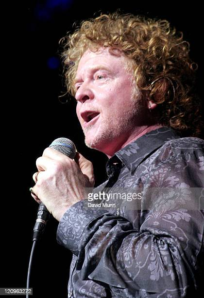 Mick Hucknall from Simply Red during Liverpool Summer Festival of Pop 06 Simply Red Concert at The Big Top Albert Dock in Liverpool Great Britain