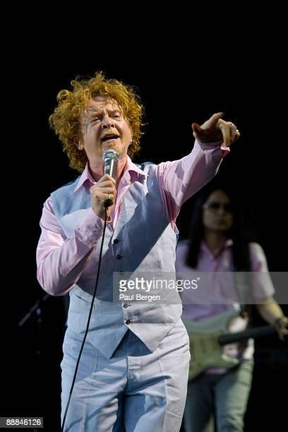 Mick Hucknall lead singer of Simply Red performs on stage at Westerpark on July 3 2009 in Amsterdam Netherlands