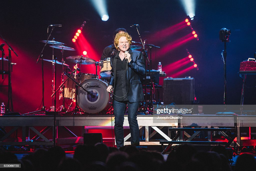 Mick Hucknall of Simply Red performs at Royal Albert Hall on April 21, 2016 in London, England.