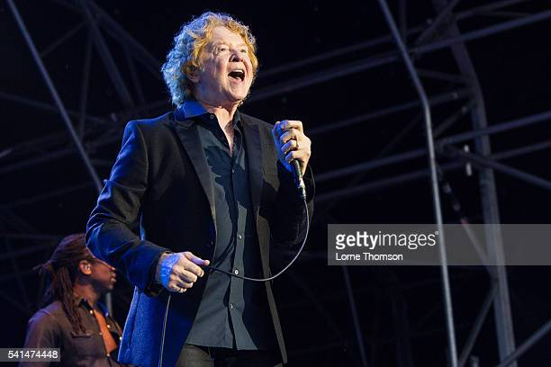 Mick Hucknall of Simply Red performs at Royal Hospital Chelsea on June 19 2016 in London England