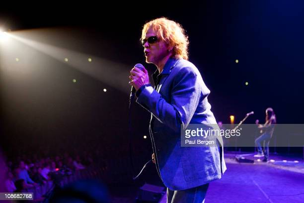Mick Hucknall of Simply Red performs on stage at Gelredome in Arnhem Netherlands on 3rd December 2010