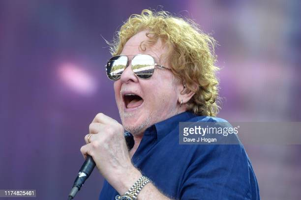 Mick Hucknall of Simply Red performs on stage during BBC2 Radio Live 2019 at Hyde Park on September 15 2019 in London England