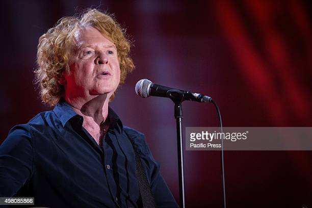 Mick Hucknall of the English soul and pop band Simply Red pictured on stage as he performs live at Mediolanum Forum in Milan, Italy.
