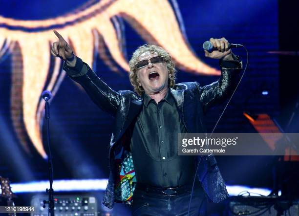 Mick Hucknall performs on stage during Music For The Marsden 2020 at The O2 Arena on March 03, 2020 in London, England.