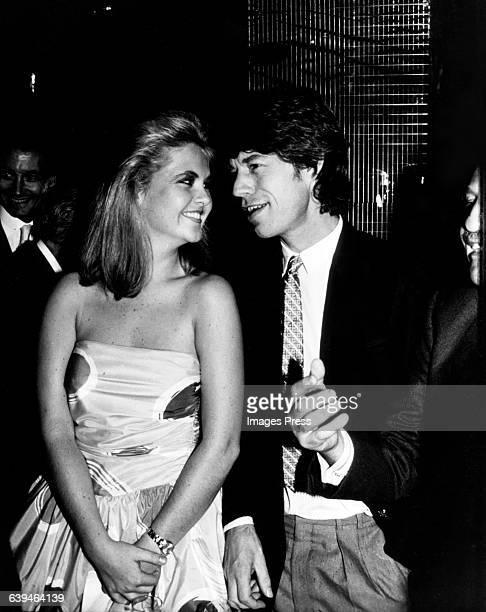 Mick Jagger and Cornelia Guest at Regine's circa 1982 in New York City