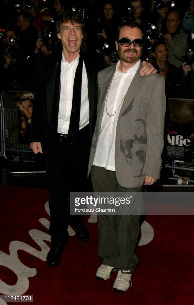 Mick Jagger and Dave Stewart during Alfie World Charity Premiere in Aid of Make A Wish Arrivals at Empire Leicester Square in London Great Britain