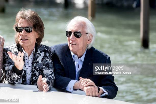 Mick Jagger and Donald Sutherland are seen arriving at the 76th Venice Film Festival on September 07 2019 in Venice Italy