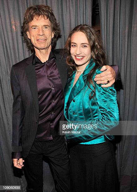 Mick Jagger and Elizabeth Jagger attends The 53rd Annual GRAMMY Awards held at Staples Center on February 13 2011 in Los Angeles California