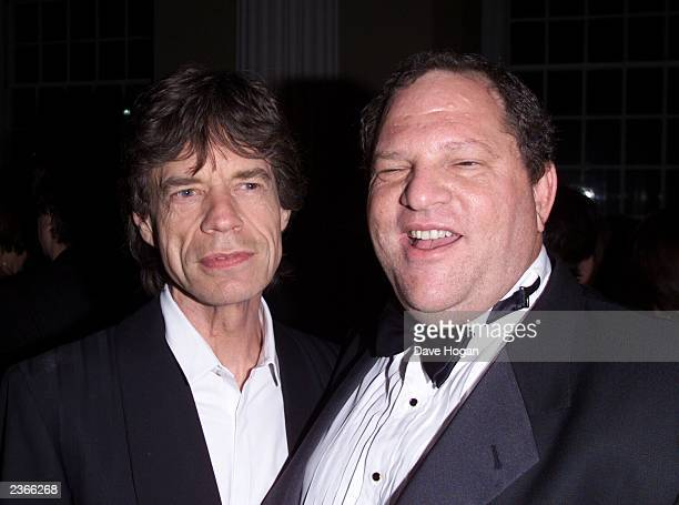 "Mick Jagger and Harvey Weinstein at the premiere of ""Enigma"" in London 9/24/2001 Photo by Dave Hogan/Mission Pictures/Getty Images"