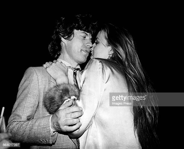 Mick Jagger and Jerry Hall at Studio 54 circa 1979 in New York City.