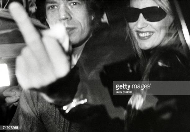 Mick Jagger and Jerry Hall at the Mizuno Gallery in Los Angeles California