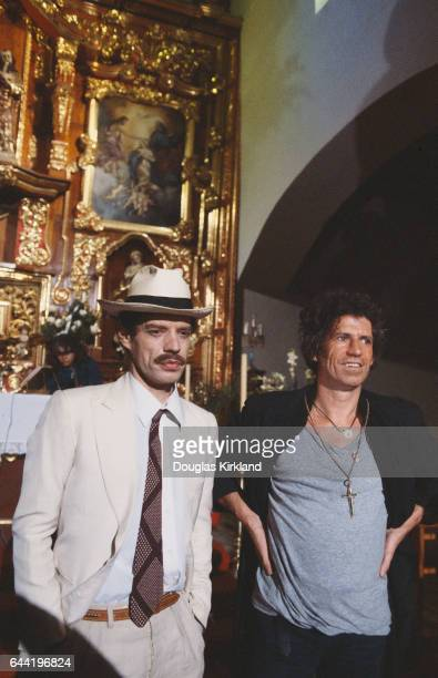 Mick Jagger and Keith Richards Making Music Video