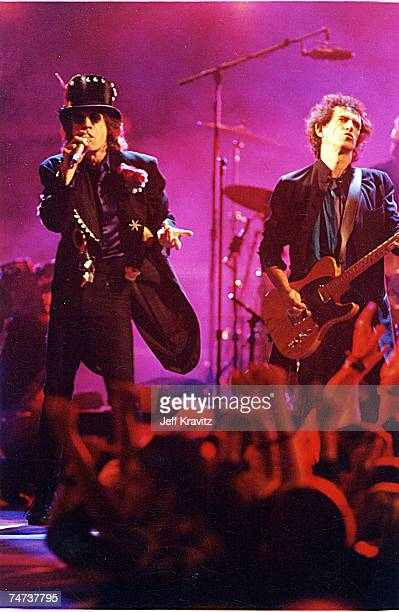 Mick Jagger and Keith Richards of the Rolling Stones at the 1994 MTV Video Music Awards at Radio City Music Hall in New York City New York