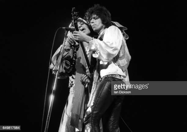 Mick Jagger and Keith Richards of The Rolling Stones perform on stage at Earls Court London United Kingdom 21 May 1976