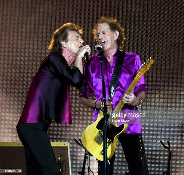 Mick Jagger and Keith Richards perform onstage during The Rolling Stones NO FILTER tour on August 01 2019 in East Rutherford New Jersey