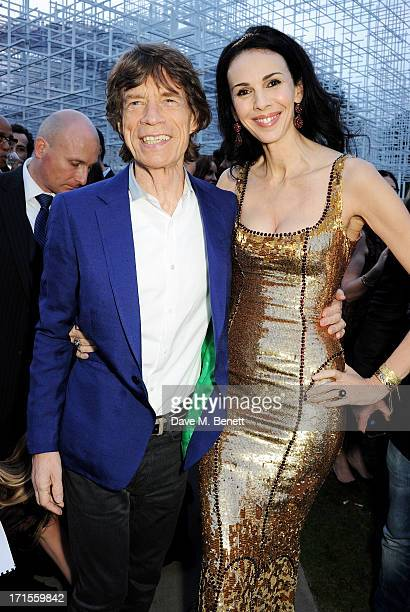 Mick Jagger and L'Wren Scott attend the annual Serpentine Gallery Summer Party cohosted by L'Wren Scott at The Serpentine Gallery on June 26 2013 in...