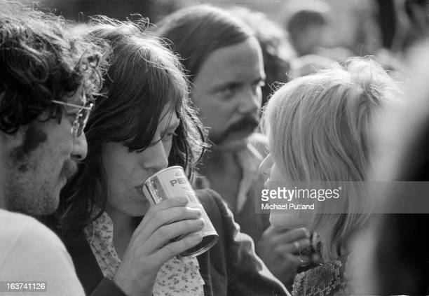 Mick Jagger and Marianne Faithfull at a Blind Faith concert in Hyde Park London 7th June 1969