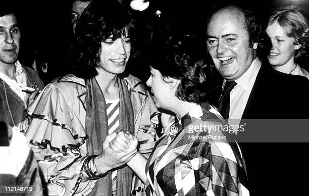 Mick Jagger and Princess Margaret Countess of Snowdon backstage London 1976
