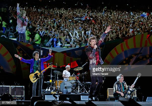 Mick Jagger and the Rolling Stones perform in the Ciudad Deportiva de la Habana in Cuba on Friday March 25 2016