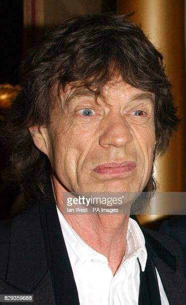Mick Jagger arrive for the world charity premiere of Alfie at the Empire Leicester Square in central London in aid of MakeAWish foundation