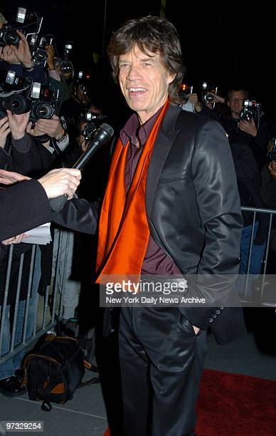 Mick Jagger arrives at the Ziegfeld Theater for the New York premiere of the movie Alfie He composed original music for the film