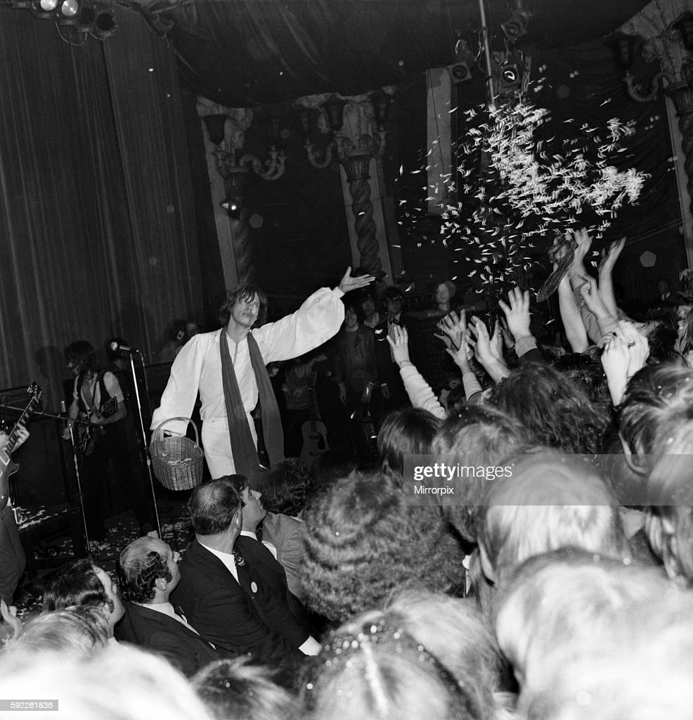 Mick Jagger at Rolling Stone concert at the Lyceum, London. 21 December 1969