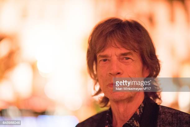 Mick Jagger attends the 2017 Vanity Fair Oscar Party hosted by Graydon Carter at Wallis Annenberg Center for the Performing Arts on February 26 2017...
