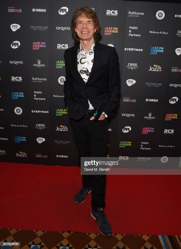 Mick Jagger attends the Jazz FM Awards 2017 at Shoreditch Town Hall on April 25, 2017 in London, England.