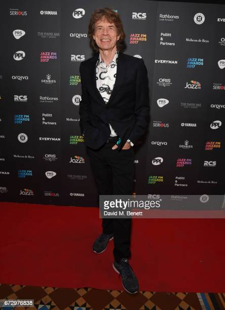 Mick Jagger attends the Jazz FM Awards 2017 at Shoreditch Town Hall on April 25 2017 in London England