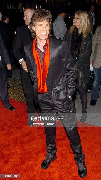 Mick Jagger during Alfie New York Premiere Red Carpet Arrivals at Ziegfield Theater in New York City New York United States