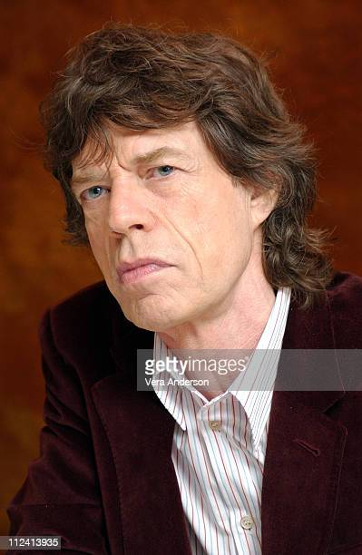 Mick Jagger during Alfie Press Conference with Jude Law Mick Jagger Marisa Tomei Jane Krakowski Nia Long and Dave Stewart at Essex House in New York...
