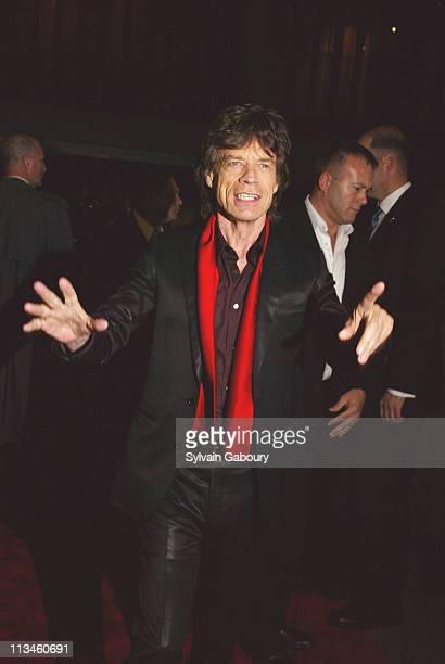 Mick Jagger during Paramount premiere of Alfie at Ziegfeld Theater in New York New York United States